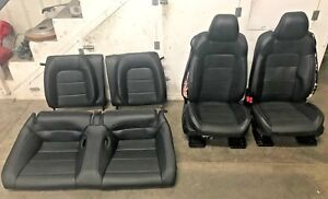 2015 2017 Ford Mustang Gt Black Leather Front rear Seats Heated cooled Oem