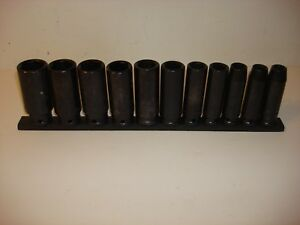 Husky 11 Pc Deep Impact Socket Set 1 2 Drive Sae 6 Point