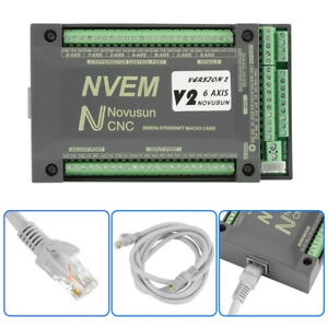 Nvem Cnc Controller 6 Axis Mach3 Ethernet Interface Motion Control Card Board