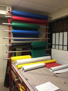Banner And or Vinyl Rack With Cutting Mat 4 X 8 Sewing Cutting Table