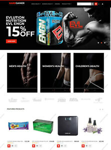 Create Gym Nutrition Shopping Store Themes Build Sports Responsive Websites