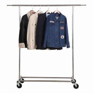 Housen Solutions Adjustable Garment Rack Commercial Grade Clothing Rack With