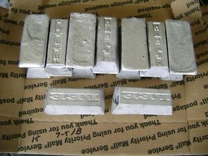15+ LBS OF WHEEL WEIGHT LEAD INGOTS FOR BULLETS FISHING HOBBIES ETC.