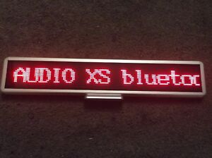 Battery Operated Led Red 3 X 20 Programmable Message Sign
