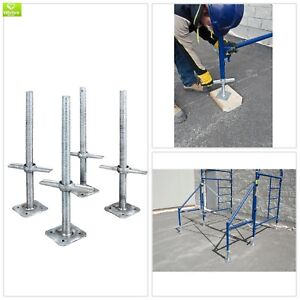 Adjustable Leveling Jack Galvanized Scaffolding 4 Pack Light Equipment Tools New