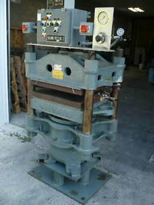 Baldwin 150 Ton 4 post Hydraulic Hot Platen Press 24 X 24 Platens