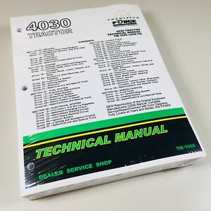 4030 John Deere Technical Service Shop Book Repair Manual