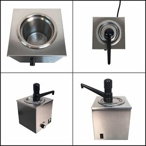Hot Melted Butter Dispenser Pump Nacho Cheese Warmer Popcorn Condiment Melter