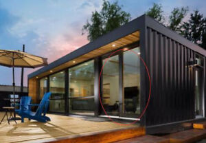 Prefab Home Container Cottage Cabin Startup Housing With Hydraulic Deck 2x40ft