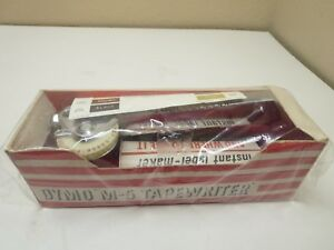 Vintage M 5 Chrome Dymo Mite Tapewriter Mid Century Embossing Label Maker
