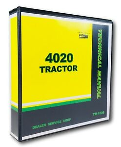 4020 John Deere Tractor Technical Service Shop Repair Manual Tm 1006