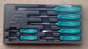 New Snap On 7 Piece Teal Hard Handle Screwdriver Set Sddx70atl