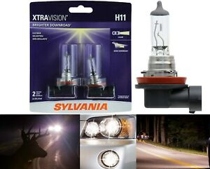 Sylvania Xtra Vision Two Bulbs H11 55w Head Light High Beam Replace Upgrade Lamp
