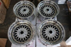For Rsx Tsx 240sx Cl7 180sx Ctr Fk2 Dc5 Jdm 17 Chrome Classic Mesh Style Wheels