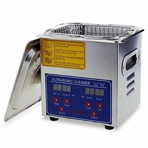 Flexzion Commercial Ultrasonic Cleaner Large Capacity Stainless Steel With And