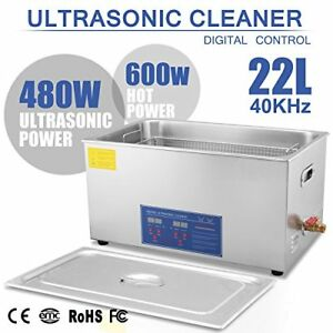 Happybuy Ultrasonic Cleaner 22l Large Commercial Stainless Steel With Heater And