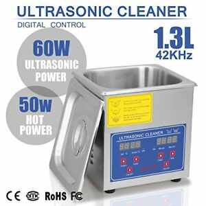 Happybuy Ultrasonic Cleaner 1 3l Large Commercial Stainless Steel With Heater