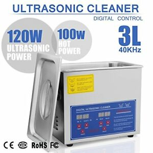 Happybuy Ultrasonic Cleaner 3l Large Commercial Stainless Steel With Heater And