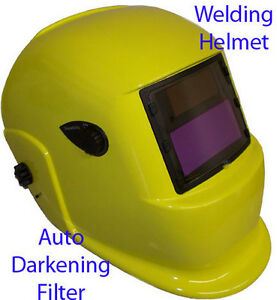 Solar Auto Darkening Filter Welding Helmet Neon Yellow