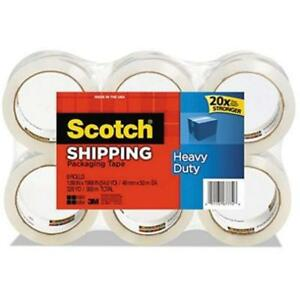 Heavy Duty Shipping Packaging Tape 1 88 Inches X 54 6 Yards Rolls 3850 8 M