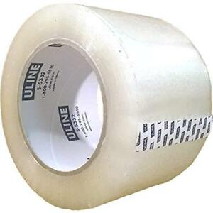 Packing Tape 3 Inch X 110 Yard 2 6 Mil Crystal Clear Heavy Duty By Uline Of 4