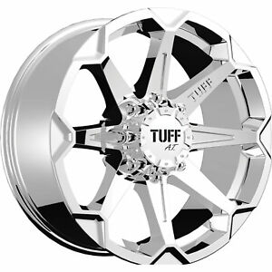 22x10 Chrome Tuff T05 Wheels 8x170 20 Lifted Fits Ford F 250 F 350 F 350