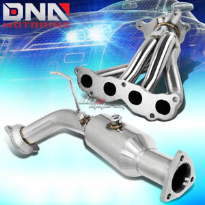 For 02 05 Civic Si Ep3 Stainless Exhasut Header high Flow Cat Test Down Pipe