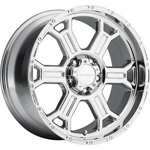 17x8 Pvd Chrome Vision Raptor Wheels 8x6 5 25 Chevrolet Suburban 2500