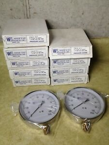 Lot Of 9 Weksler Ea 14c Pressure Gauges 0 100 Psi