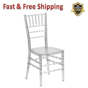 Stacking Chiavari Chair Flash Elegance Crystal Ice Ultra Strong Polycarbonate
