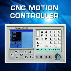 Panel 4 Axis Cnc Controller Motion Control System Stepper Motor Driver Board