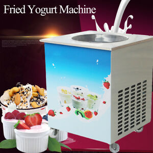 Us Commercial Fried Milk Yogurt Maker Fried Ice Cream Roll Machine Summer 1050w