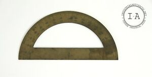 Antique Late 1800s Brass Protractor