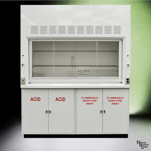 6 Chemical Laboratory Fume Hood W Flammable Acid Storage Cabinets