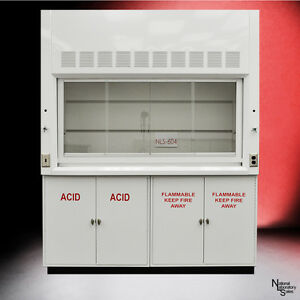 6 New Chemical Laboratory Fume Hood W Flammable Acid Storage Cabinets