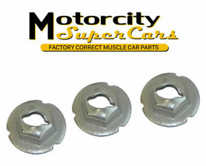 1960 79 All Gm Pontiac Olds Buick Chevy Fender Emblem 3 Speed Nuts With Grabbers