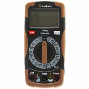 New Southwire Digital 600 volt Manual Ranging Multimeter 10030s