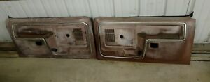 Vintage Ford Truck F 100 150 250 350 Bronco Door Panels Oem 1980 1986