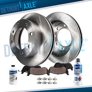 4wd 331mm Front Brake Rotors Pads 2000 2003 2004 Ford Excursion F 250 F 350