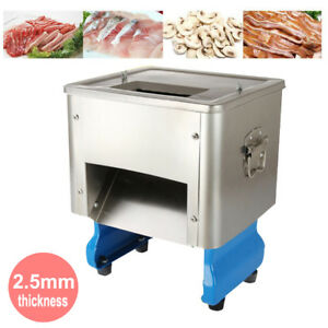 2 5mm Electric Meat Slicer Stainless Steel Meat Cutter Deli Food Slicing Machine