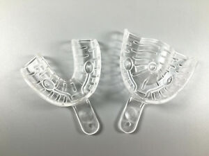 Dental Autoclave Impression Trays Denture Clear 121 Alginate Middle 20 Pairs