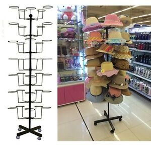 Hat Cap Retail Floor Display Hat Rack 64 2 Tall Holds Stand 35 Hats Hanger