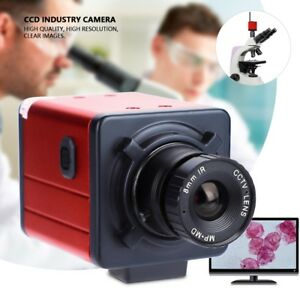 Hd Industrial Microscope Camera Bnc Vga Usb Av Tv Output Zoom C mount Lens Red