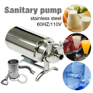Baw Stainless Steel Sanitary Pump Sanitary Beverage Milk Delivery Pump 3t h 110v
