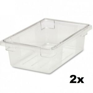 Rubbermaid Commercial Fg330900clr Food tote Box 3 5 Gallon lid Not Included
