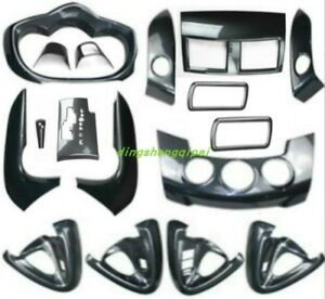 17pcs Carbon Fiber Style Car Interior Kit Cover Trim For Toyota Rav4 2009 2013