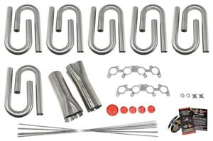Ford 5 0l Coyote Custom Header Build Kit 1 5 8 Primary 3 Collector 304 Ss