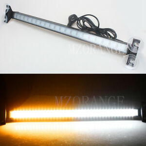 80 Led Amber white Car Strobe Warning Moving Light Bar Flash Signal Emergency