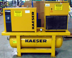 Used 10 Hp Kaeser Sm 11 Air Compressor With Air Dryer 230 460v 42 Cfm