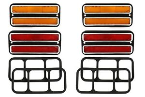 4 68 72 Chevy Gmc Truck Front Amber Rear Red Side Marker Light Lamps Set